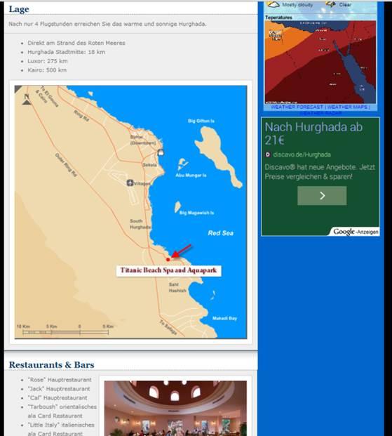 Agypten Hotel Titanic Palace Und Hotel Aqua Park In Hurghada