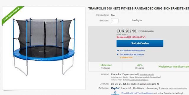 trampoline auf was sollte man beim kauf eines trampolin achten rue25 notizen. Black Bedroom Furniture Sets. Home Design Ideas