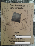 Blog : Rue25 Kunst Gastgeschenke Our Sun never raises its rates