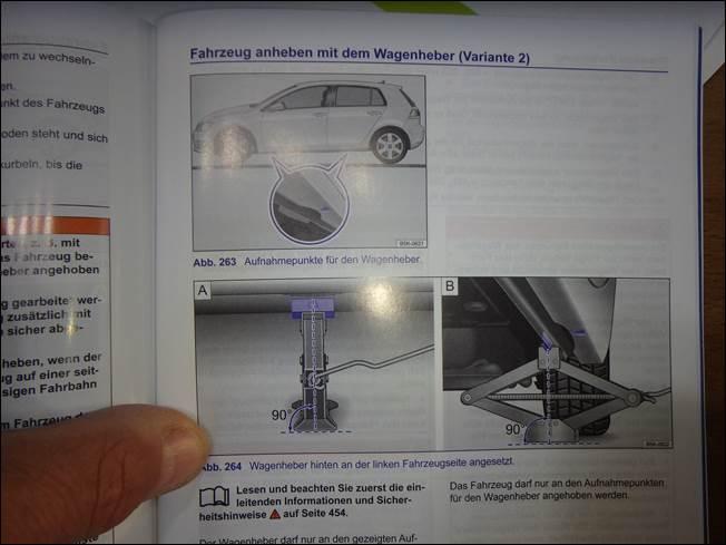Radwechseln Beim Golf 7 2 Wagenheber Ansetzen Rue25