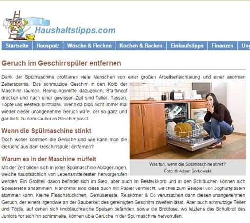 problem gel st schlechte ger che in der sp lmaschine entfernen rue25 blog. Black Bedroom Furniture Sets. Home Design Ideas