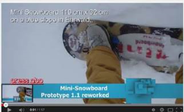 Video : testing our Mini Snowboard 1b