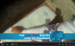 Testfahrt mit Lotus Effect Ultra Ever Dry