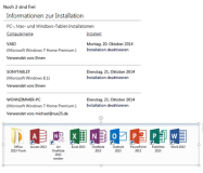 2 Installationen von Office 365 frei