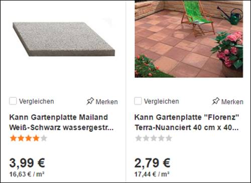 Betonplatten Der Firma Kann Produktname Fiori - Gehwegplatten anthrazit 60 x 40