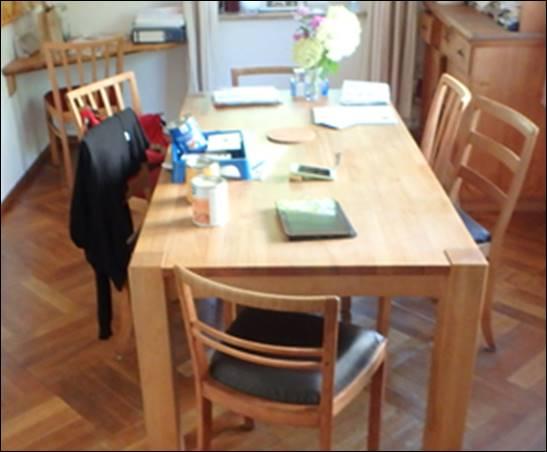 Tisch aus alt mach neu: Reinigen und Schleifen @ Rue25 Notes