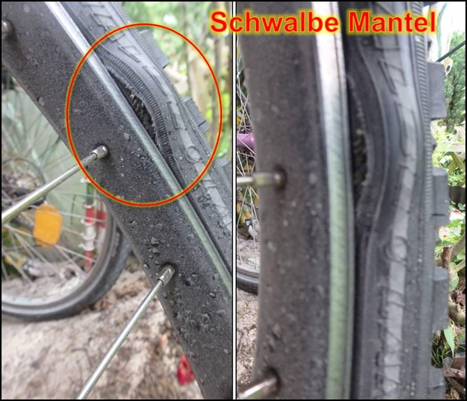 Fahrrad mantel kaputt