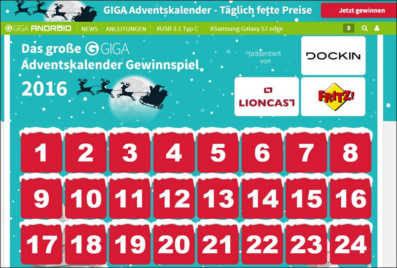 T Mobile Adventskalender Gewinnspiel