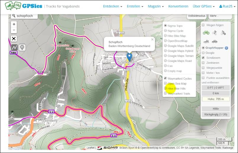 gpsies karte Radtour Routen mit GPSies, GPS Track planen und in Maps und OSmAnd