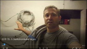 Video: Starkstromkabel legen