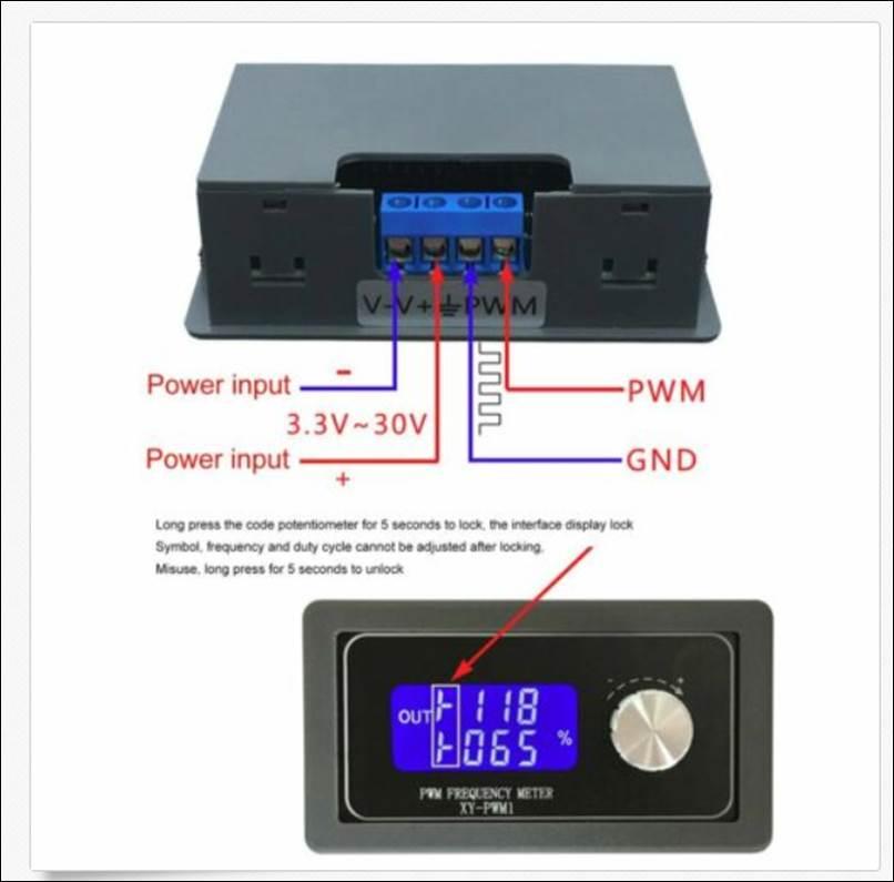 Professionelles Modul Einstellung Pulsfrequenzzyklus FNIRSI PWM-Signalgenerators
